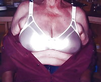 Gran granny mature wearing bra's 5