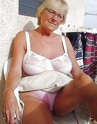 Gran granny mature wearing bra's 5