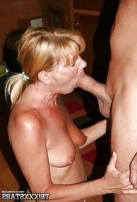 HORNY Grandmother and a COCK