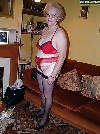 Granny Grandma Old Ladies in Heels Lingerie 11