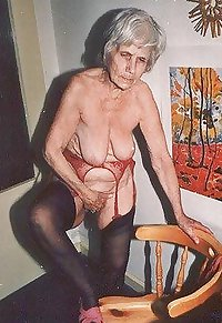 Granny Grandma Old Ladies in Heels Lingerie 8