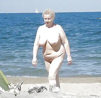 BBW matures and grannies at the beach 244