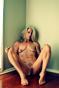 Sexy Tattooed Mature Granny