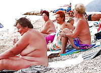 BBW matures and grannies at the beach (12)