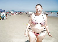 BBW matures and grannies at the beach 248
