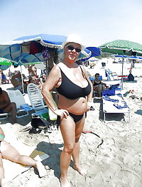 BBW matures and grannies at the beach 172